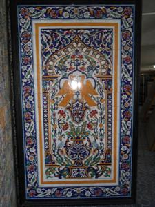 Simple fresque murale sur carrelage peinte la main with for Le carrelage en algerie