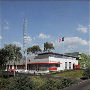 Projet d'architecture centre de secours Fos-sur- Mer