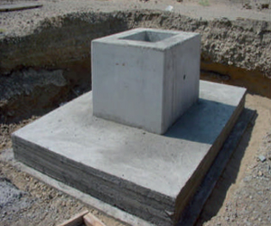 Fondation semi préfabriquée en béton