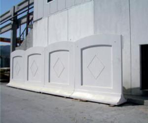 Clôture amovible en béton
