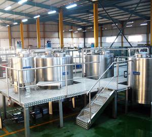 Unité de production en inox forme liquide