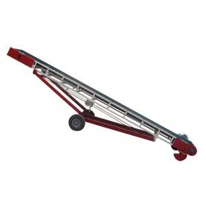Convoyeur à bande inclinée sur chassis