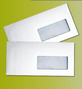 Enveloppe mécanisable à fenêtre à fermeture gommée