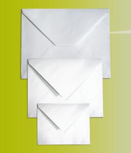 Enveloppe Trapèze Blanche à fermeture gommée