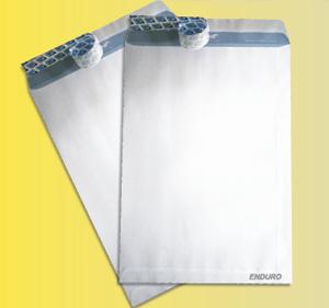 Pochette blanche ENDURE à fermeture auto-adhèsive