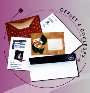 Pochette et enveloppe à impression personnalisée OFFSET 4 couleurs