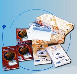 Packaging de toute la gamme d'enveloppes et pochettes