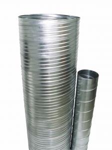 Conduits rigides spiralés agrafés, acier galvanisé