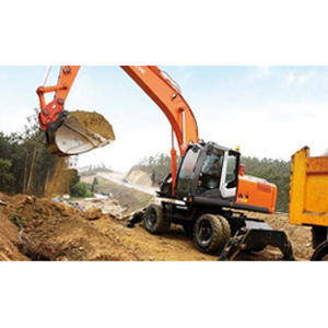 Excavatrice sur pneus : Hitachi construction machinery