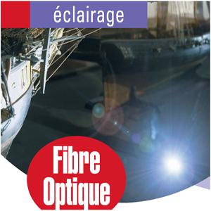 Kit d'éclairage par fibre optique pour vitrine d'exposition