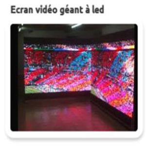 Ecran vidéo géant à led