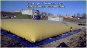 Stockage d'effluents bruts