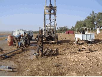 Développement de forages d'eau
