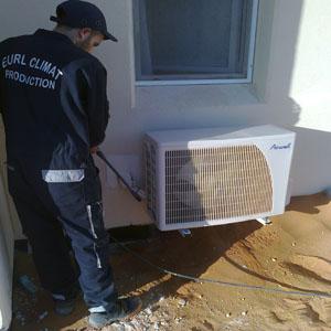 Installation de l\'équipement de climatisation