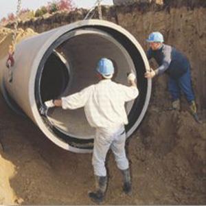 Travaux d'assainissement Oued Smar