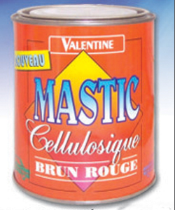 Mastic Cellulosique Brun Rouge / Gris