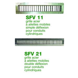 Grille acier pour conduits cylindriques