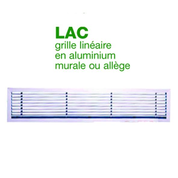 Grille linéaire en aluminium murale ou allège