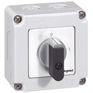 Commutateur - inter marche/arrêt - pr 12 - 2p - 2 contacts - boîtier 76x76 mm