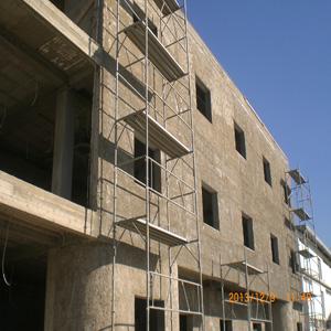 Revetement facade en mur rideau ou panneaux composites