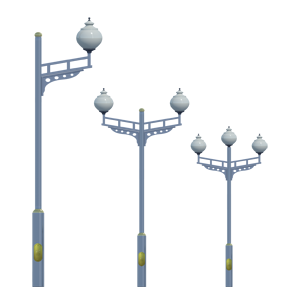 Lampadaires tubulaires