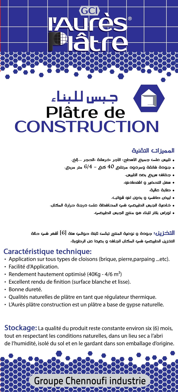 Platre de construction