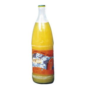 jus d'orange en bouteille de verre