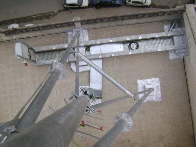 Infrastructure en charpente métallique pour station GSM