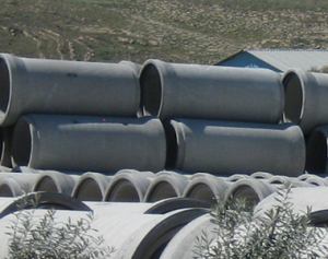 Tuyaux en béton armé avec joints coulissants