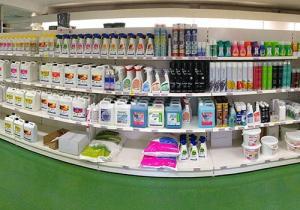 Produits de nettoyage et d'entretien.