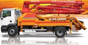 Pompe à béton KCP sur camion.