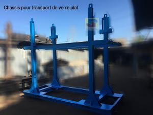Châssis transport de verre plat