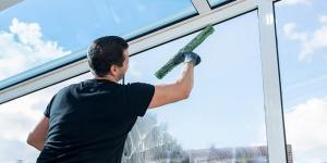 le nettoyage des vitreries