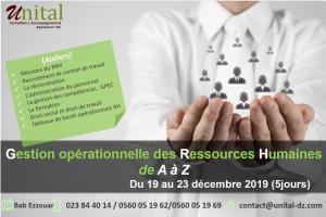 Formation Gestion opérationnelle des ressources humaines de A à Z