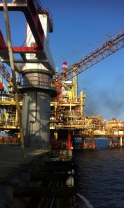 Construction d'une plateforme pétrolière