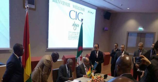 Alg&eacuterie-Guin&eacutee signature d'un accord dans la s&eacutecurit&eacute publique et de la protection civile