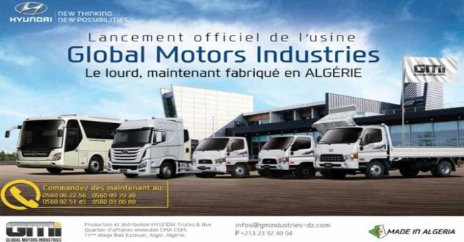 Global Motors Industries pose de la premi&egravere usine de fabrication de camions et d'autobus