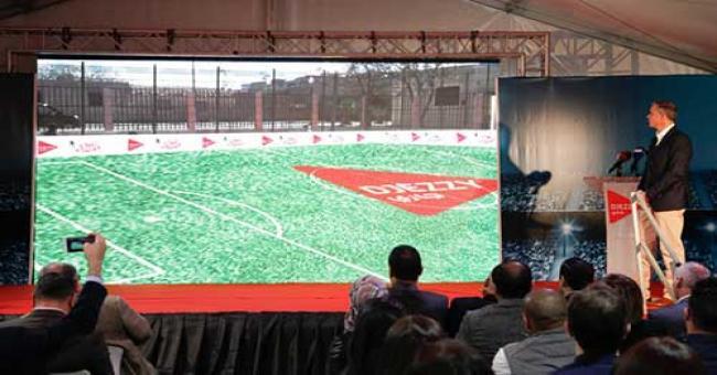 Djezzy Stady : lancement de la première opération de réaménagement des stades de quartiers
