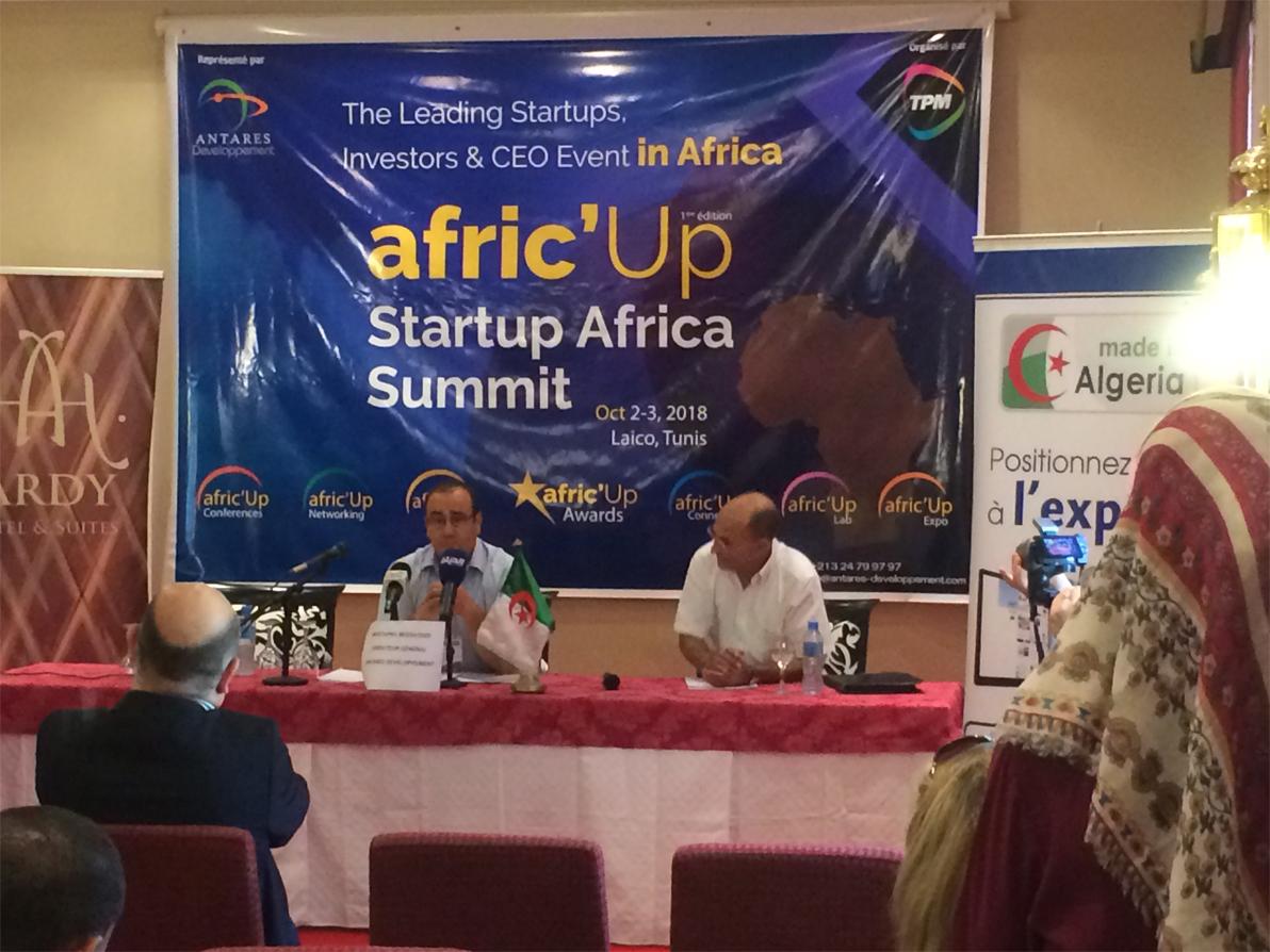 Conférence de presse d'Antares développement concernant l'événement Afric'up