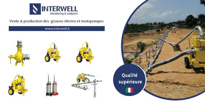 INTERWELL ,vente et prodution de grosses électro et motopompes